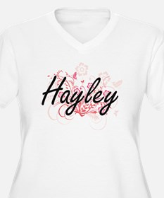 Hayley Artistic Name Design with Plus Size T-Shirt