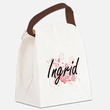 Ingrid Artistic Name Design with Canvas Lunch Bag