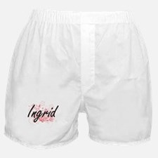 Ingrid Artistic Name Design with Flow Boxer Shorts