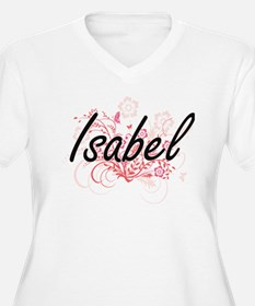Isabel Artistic Name Design with Plus Size T-Shirt