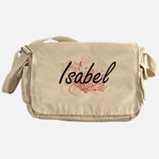 Isabel Artistic Name Design with Flo Messenger Bag