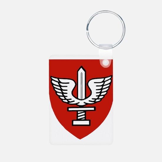 Kfir Brigade Logo Aluminum Photo Keychain