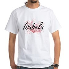 Isabela Artistic Name Design with Flowers T-Shirt
