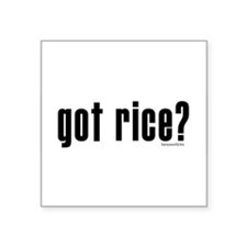 "Cute Rice Square Sticker 3"" x 3"""