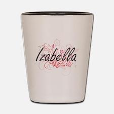 Izabella Artistic Name Design with Flow Shot Glass