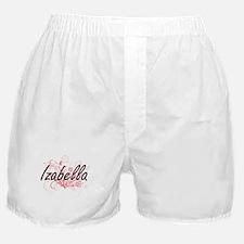 Izabella Artistic Name Design with Fl Boxer Shorts