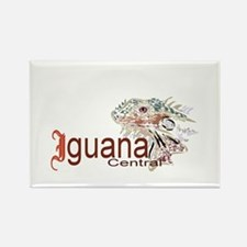 Iguana Central Rectangle Magnet