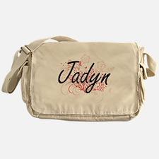 Jadyn Artistic Name Design with Flow Messenger Bag