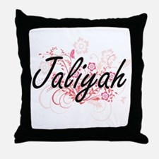 Jaliyah Artistic Name Design with Flo Throw Pillow