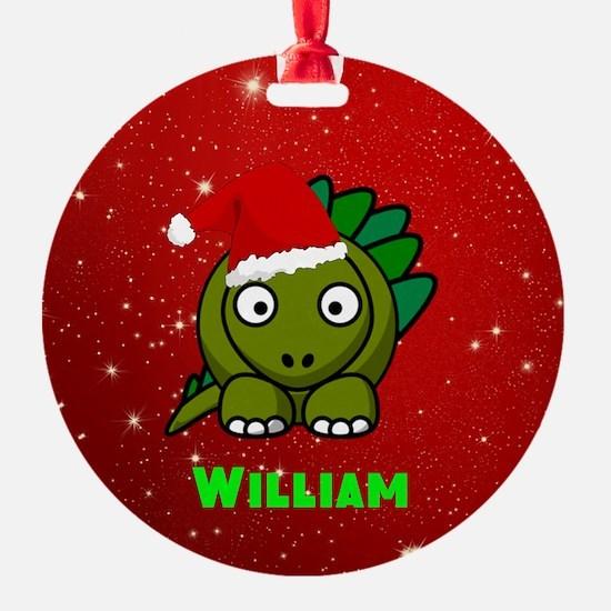 Personalized Dinosaur Ornament