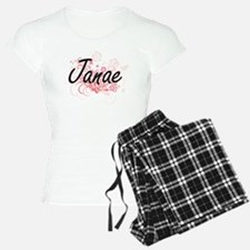 Janae Artistic Name Design Pajamas