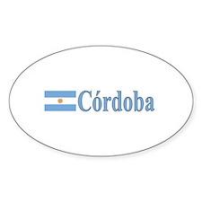 Cordoba, Argentina Oval Decal