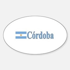Cordoba, Argentina Oval Decal