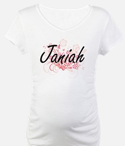 Janiah Artistic Name Design with Shirt