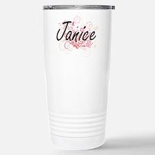 Janice Artistic Name De Travel Mug