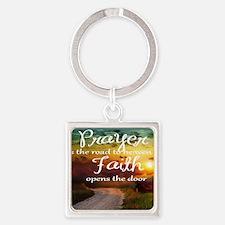Cute Serenity prayer Square Keychain