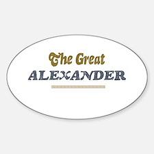 Alexander Oval Decal