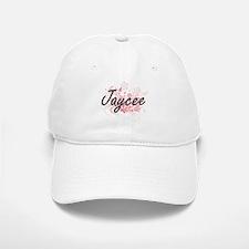 Jaycee Artistic Name Design with Flowers Baseball Baseball Cap