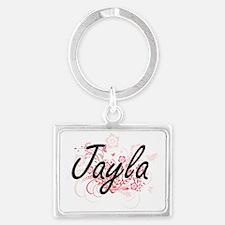 Cute Jayla Landscape Keychain