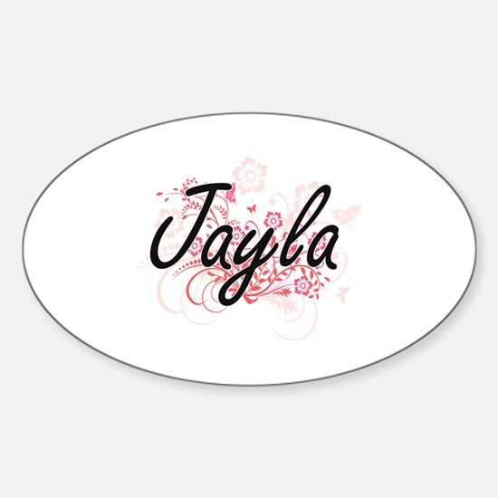 Cute Jayla Sticker (Oval)