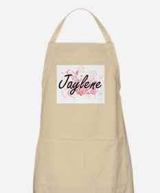 Jaylene Artistic Name Design with Flowers Apron