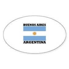 Buenos Aires, Argentina Oval Decal