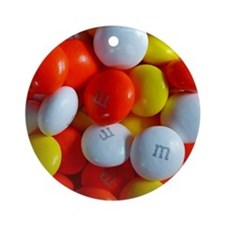 Colorful Candy Round Ornament