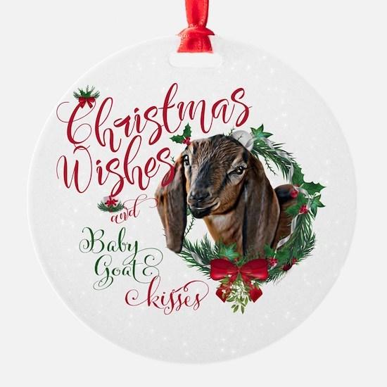 Christmas Goat   Christmas Wishes B Ornament