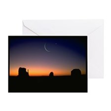 Ramadan Moon & Venus Greeting Card