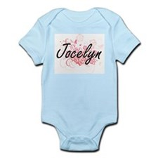 Jocelyn Artistic Name Design with Flower Body Suit