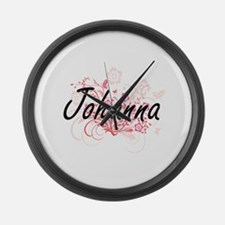 Johanna Artistic Name Design with Large Wall Clock