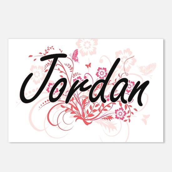 Jordan Artistic Name Desi Postcards (Package of 8)