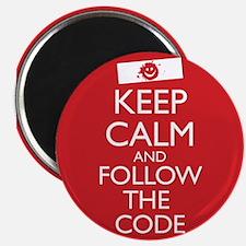 Cute Follow the code Magnet