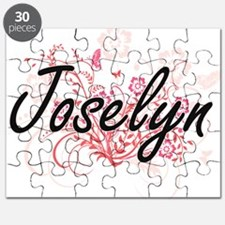 Joselyn Artistic Name Design with Flowers Puzzle