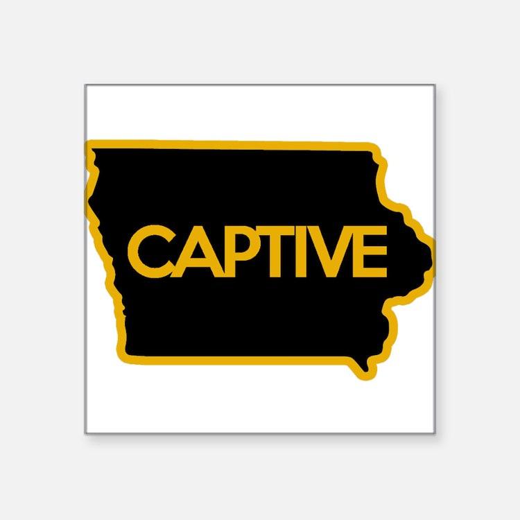 "Cute Iowa Square Sticker 3"" x 3"""