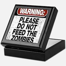 Don't Feed the Zombies Keepsake Box