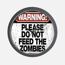 Don't Feed the Zombies Wall Clock