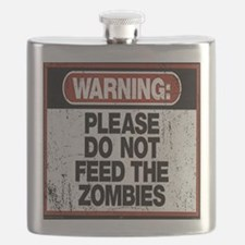 Don't Feed the Zombies Flask