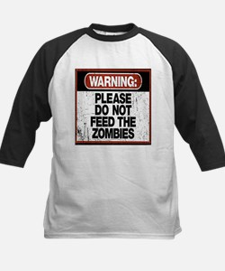 Don't Feed the Zombies Baseball Jersey