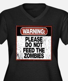 Don't Feed the Zombies Plus Size T-Shirt