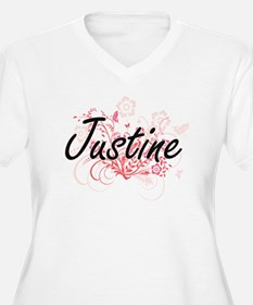 Justine Artistic Name Design wit Plus Size T-Shirt