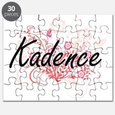 Kadence Artistic Name Design with Flowers Puzzle