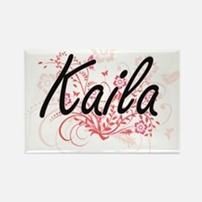 Kaila Artistic Name Design with Flowers Magnets