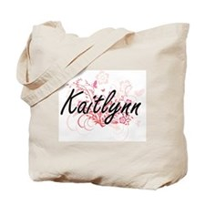 Kaitlynn Artistic Name Design with Flower Tote Bag