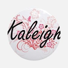 Kaleigh Artistic Name Design with F Round Ornament