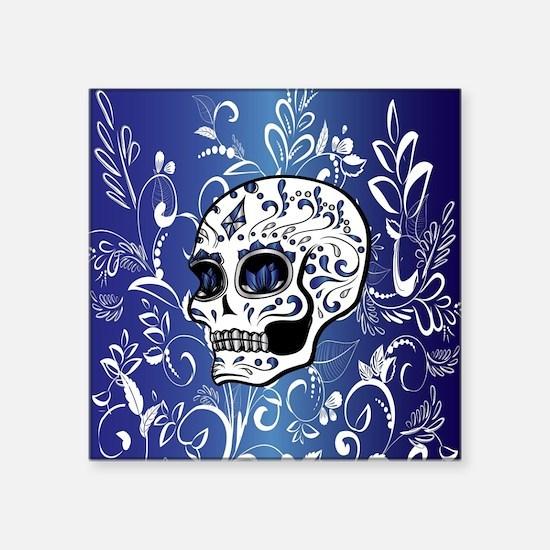 "Unique Whimsical halloween Square Sticker 3"" x 3"""