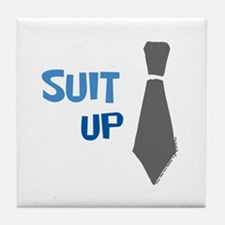Suit Up Tile Coaster