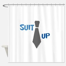 Suit Up Shower Curtain