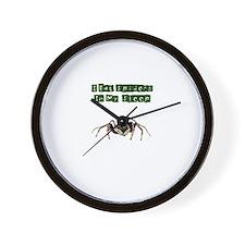 I Eat Spiders in My Sleep Wall Clock