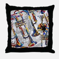 Cute Trumpet Throw Pillow